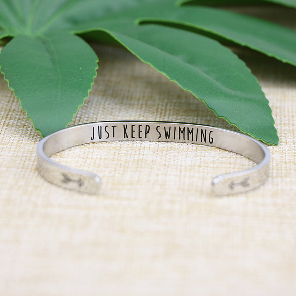Just Keep Swimming Friend Encouragement Jewelry