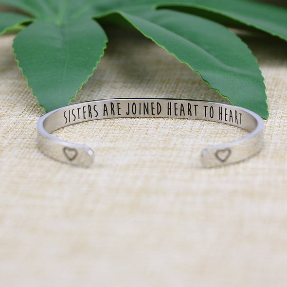 Sisters are Joined Heart to Heart Bracelets