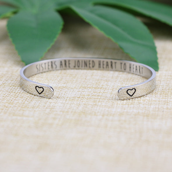 Sisters are Joined Heart to Heart Bracelet