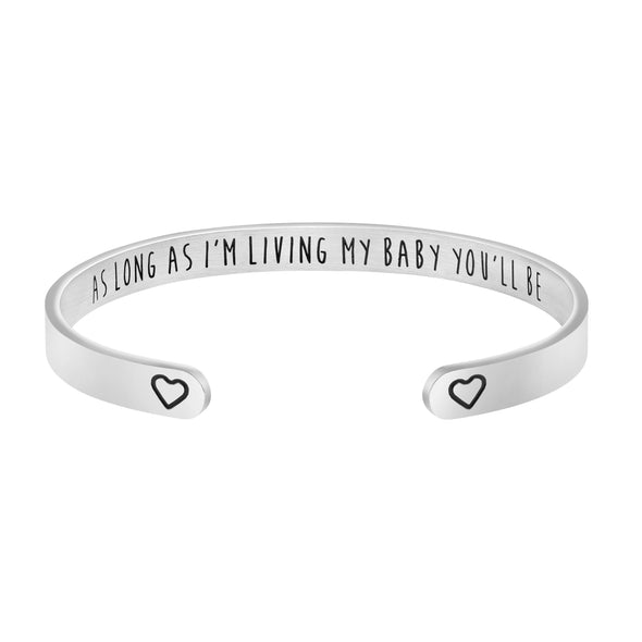 As long as Im Living My Mommy you'll Be Bracelet