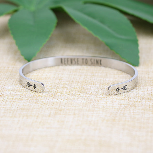 Refuse to Sink Bangle
