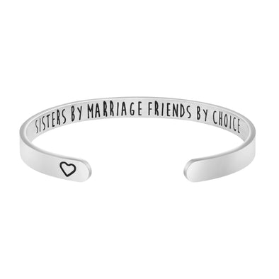 Sisters by Marriage, Friends by Choice Wedding Party Jewelry