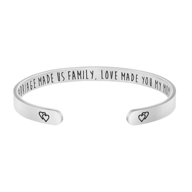 Marriage Made Us Family Love Made You My Mom Mother of the Groom Jewelry