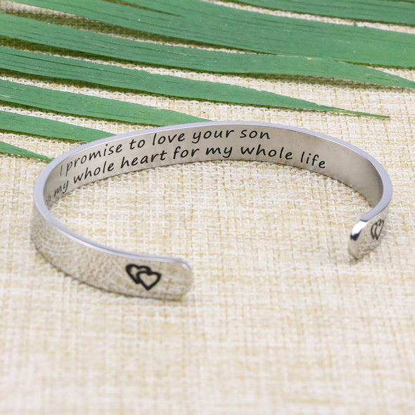 My Whole Heart for My Whole Life Cuff Bracelet