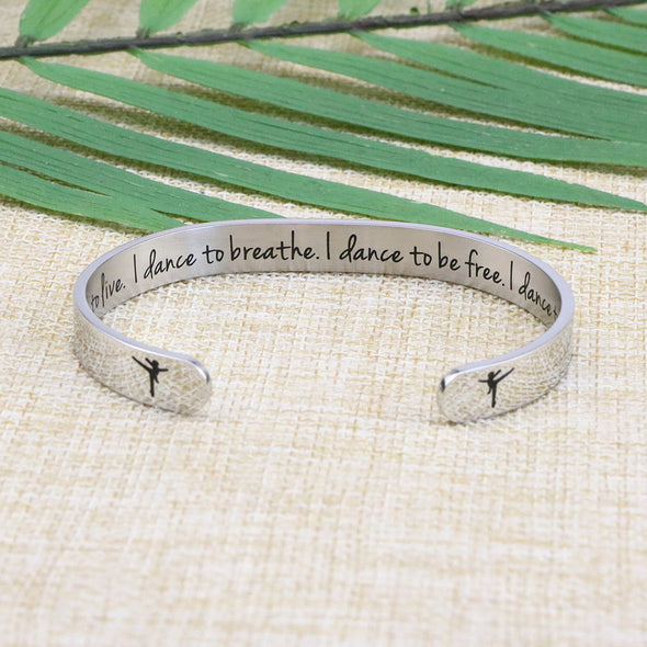 Dance Gift for Dancer Ballet Ballerina Graduation Bracelet for Teen Girl