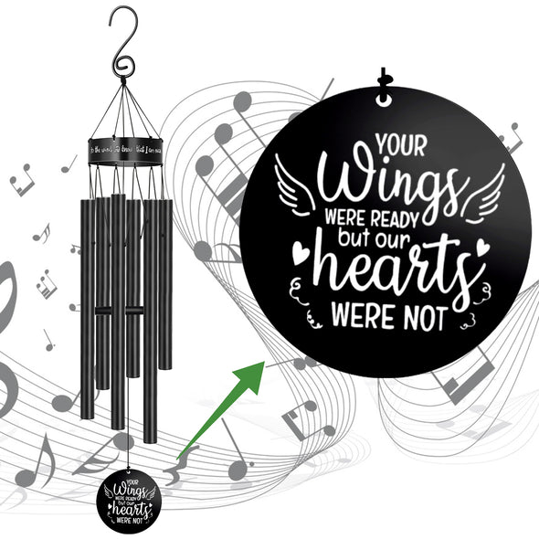 Your Wings were Ready My Heart was Not Memorial Wind Chime Loss of Loved Ones