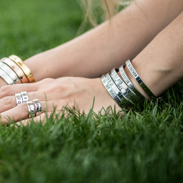 What She Tackles She Conquers Mantra Jewelry