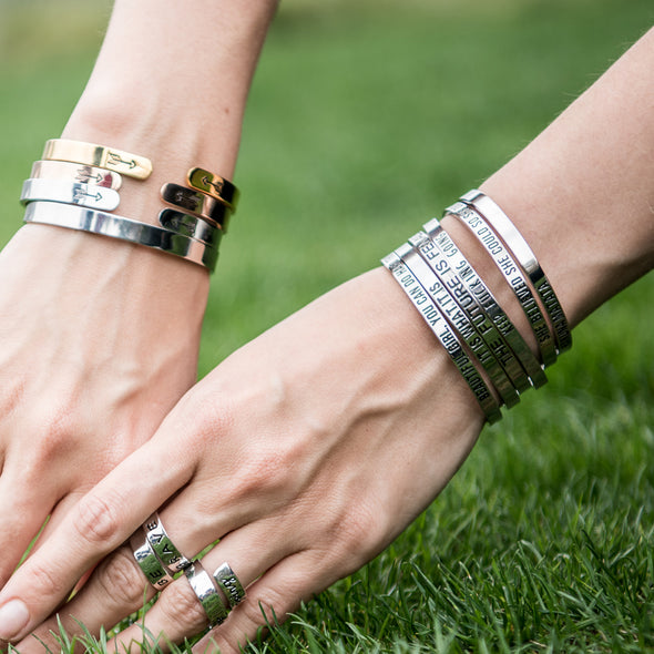 Never Let Anyone Dull Your Sparkle Back to School Bracelets