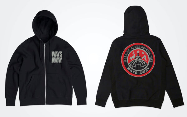 "Ways Away ""Working Class"" zip up Hoodie PREORDER"