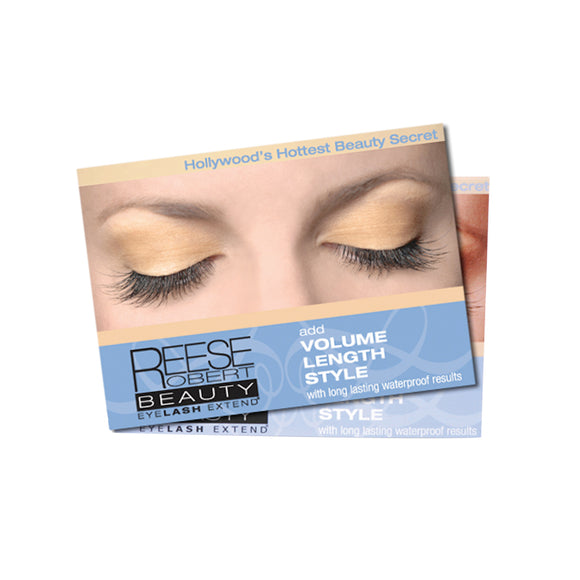 Eyelash Extensions Shelf Talker Cards - 50 ct.