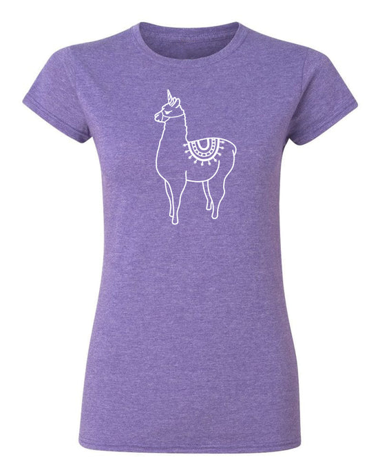 Llamacorn T Shirt Purple