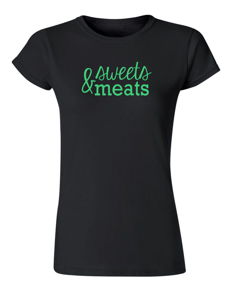 Sweets and Meats T Shirt Black
