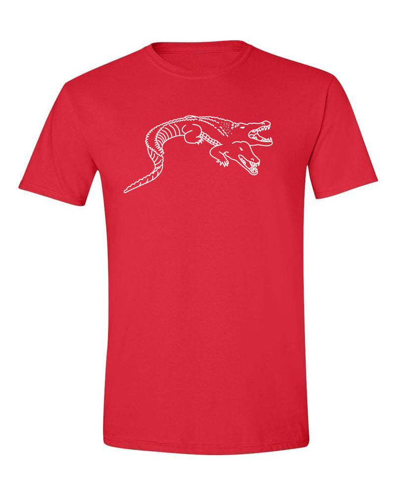 Siamese Crocodile T Shirt Red