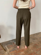 60s Checkered Olive Trousers