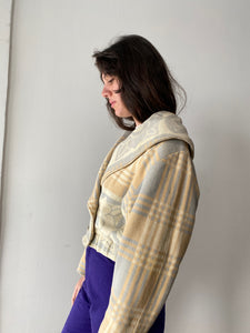 30s Beacon Blanket Cropped Jacket