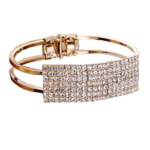 Load image into Gallery viewer, Crystal Cuff Bracelet