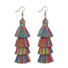 Load image into Gallery viewer, Fringe Long Summer Tassel Earring