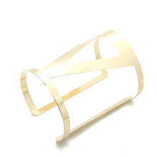 Load image into Gallery viewer, Geometric Cuff Bangle