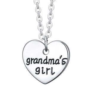Grandma's Girl - Single Heart Pendant