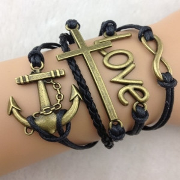 Infinity Love Cross Anchor