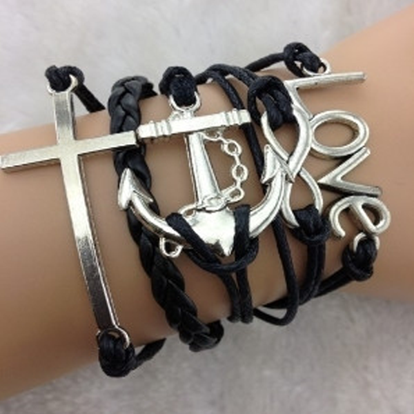 Love Infinity Anchor Cross