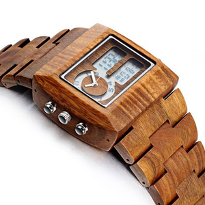 Luxury Sandalwood Analog Watch