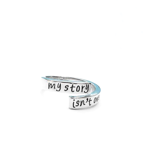 My Story Isn't Over Yet Hand Stamped Ring