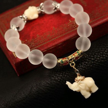 Load image into Gallery viewer, Natural Frosted Elephant Bracelet 3