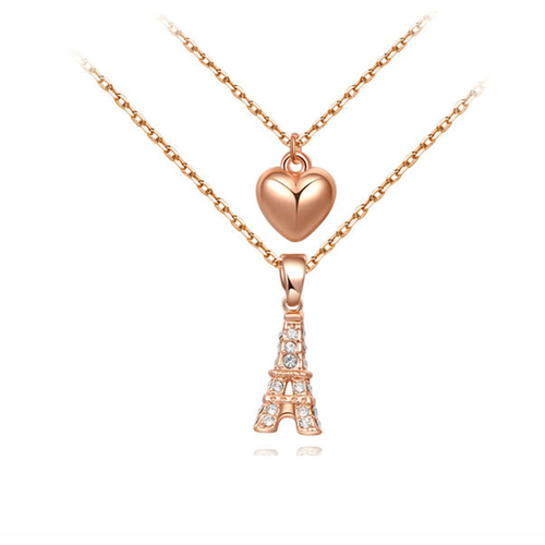 Paris Love Heart Pendant