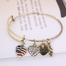 Load image into Gallery viewer, Patriot Love Charm Bangle