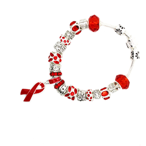 Red Ribbon Awareness Bracelet