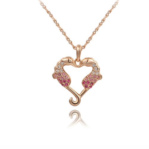 Sea Horse Love Heart Pendant