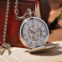 Load image into Gallery viewer, Silver Full Hunter Pocket Watch