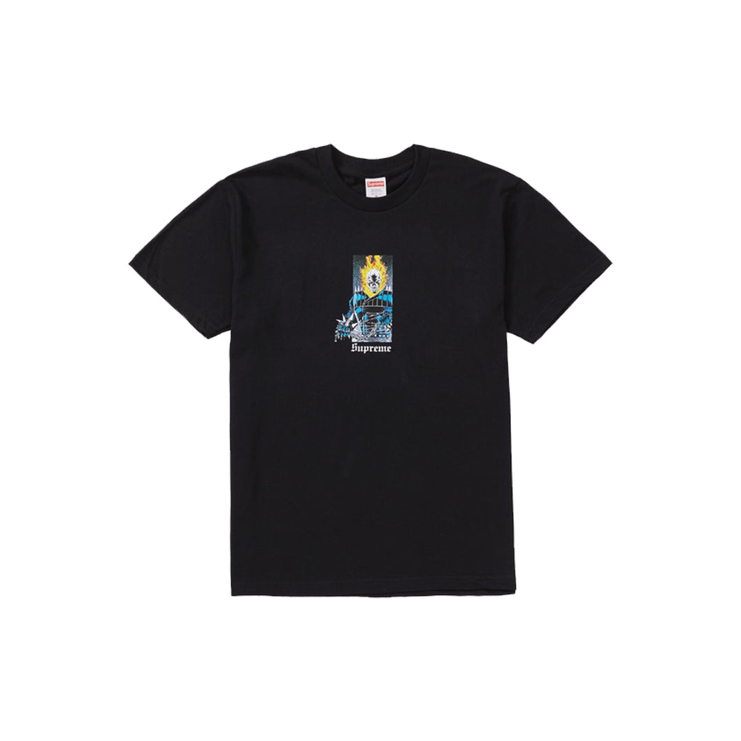 Supreme Ghost Rider Tee - Black, Clothing- dollarflexclub