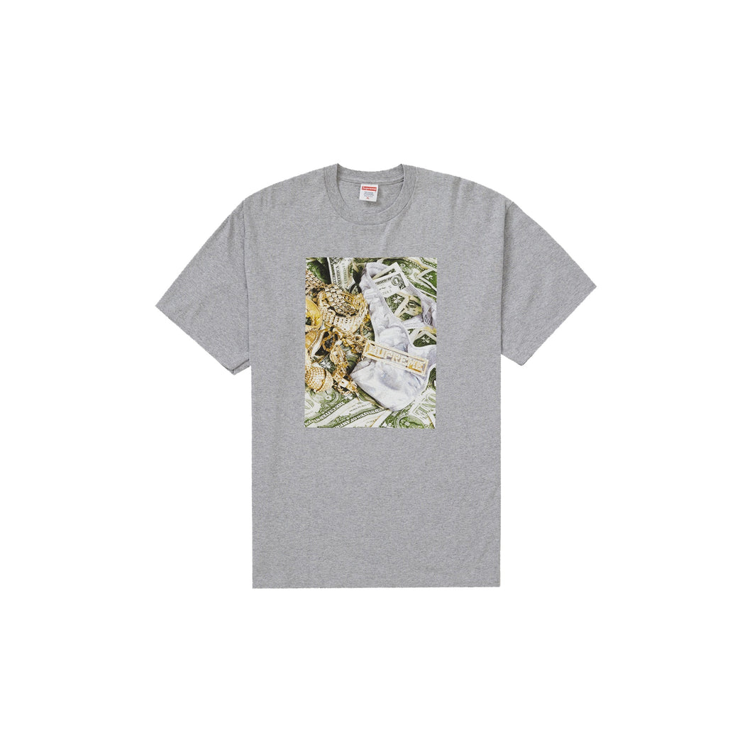 Supreme Bling Tee Heather Grey, Clothing- dollarflexclub