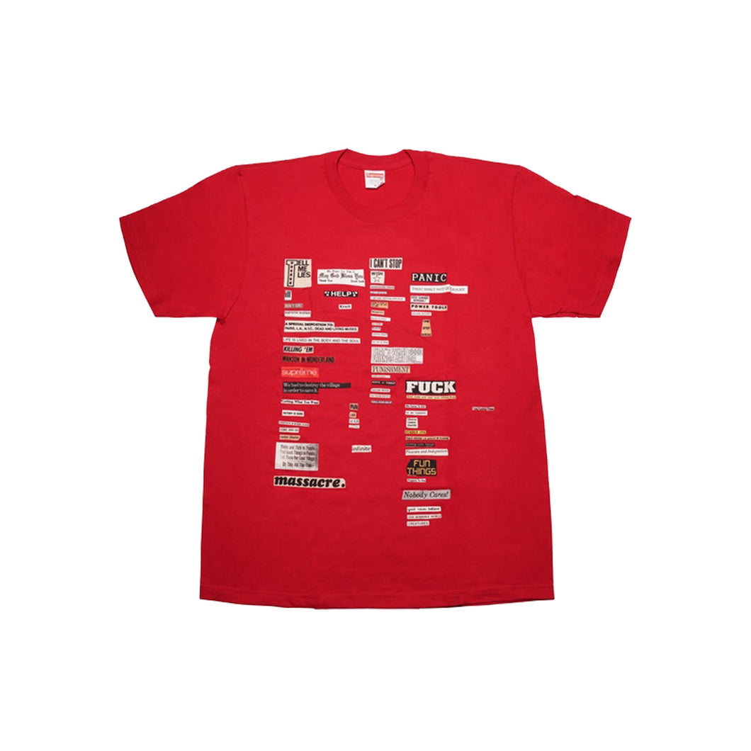 Supreme Cut Outs Tee - Red, Clothing- dollarflexclub
