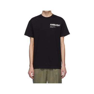 Ambush x SSENSE Logo Tee -Black, Clothing- dollarflexclub