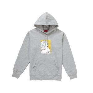 Supreme Nose Bleed Hooded Sweatshirt Heather Grey