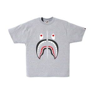 Bape Shark Tee-Grey, Clothing- dollarflexclub