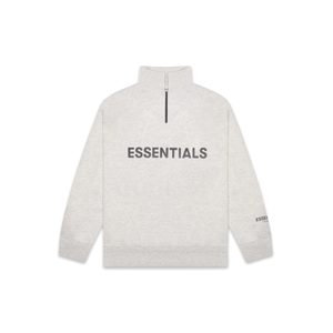 FEAR OF GOD ESSENTIALS Half Zip Pullover Sweater Oatmeal