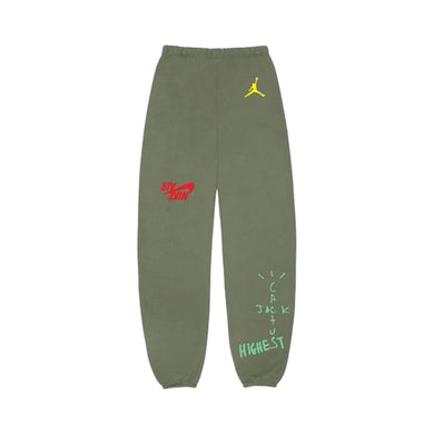 Travis Scott x Nike Jordan Cactus Jack Highest Sweatpant -Olive, Clothing- dollarflexclub