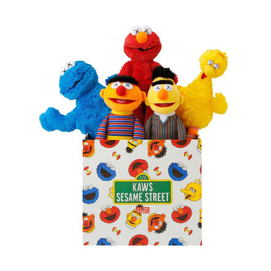 Kaws x Uniqlo x Sesame Street Plush Toy Set, Collectibles- dollarflexclub