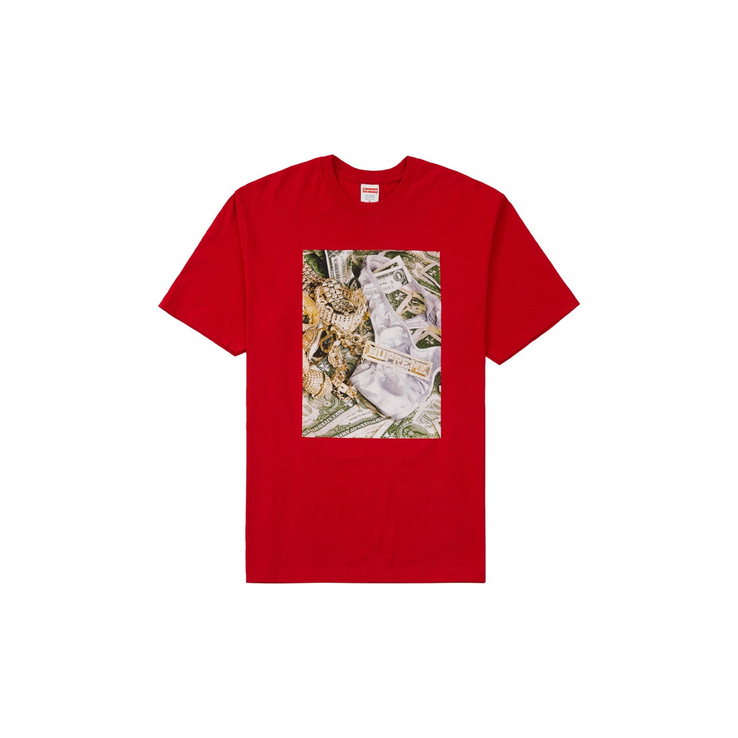 Supreme Bling Tee Red, Clothing- dollarflexclub
