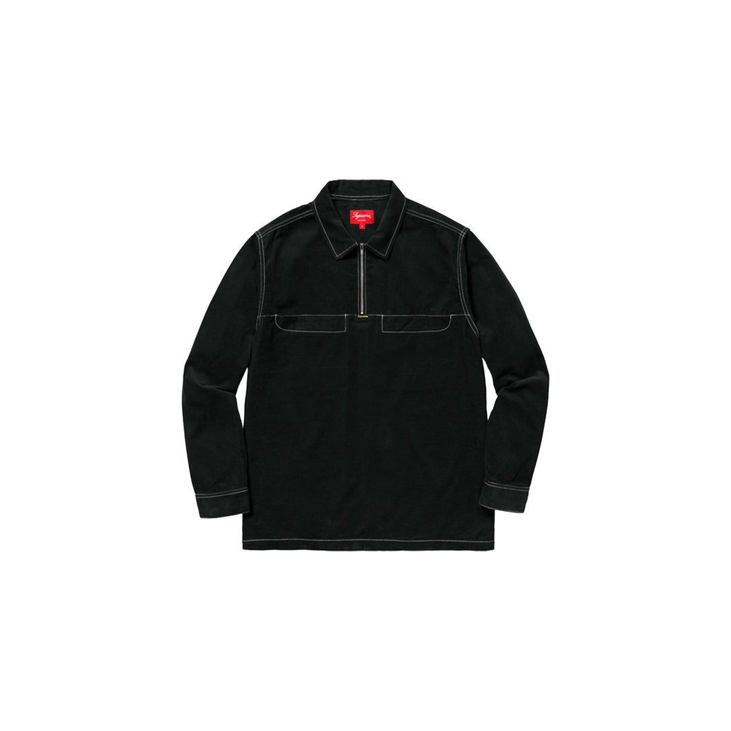 Supreme Corduroy Shirt Black, Clothing- dollarflexclub