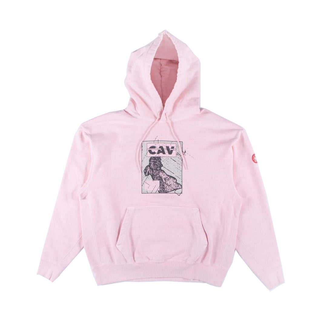 Cav Empt Panel Heavy Hoodie-Pink, Clothing- dollarflexclub