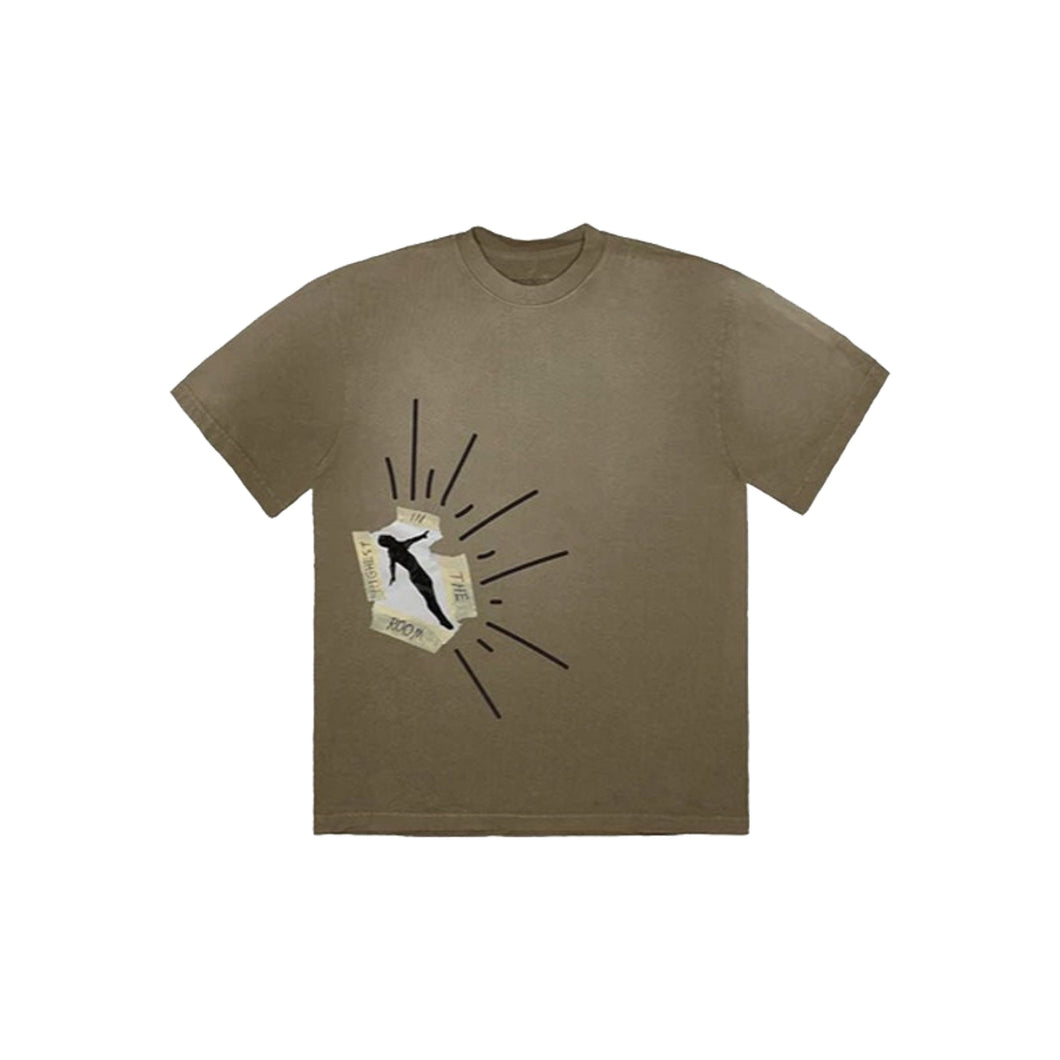 Travis Scott Highest In The Room Dive T Shirt -Olive, Clothing- dollarflexclub