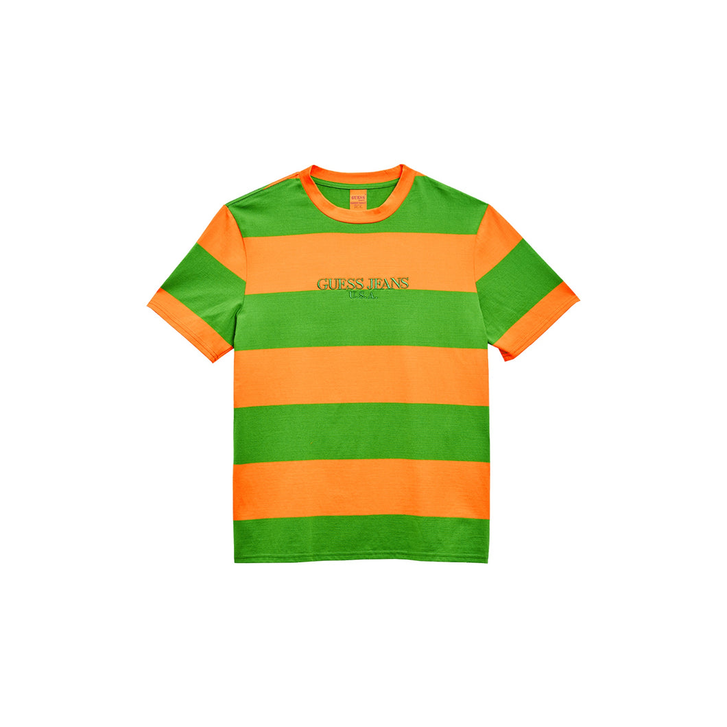 Guess Farmer Market Stripe Orange & Green, Clothing- dollarflexclub