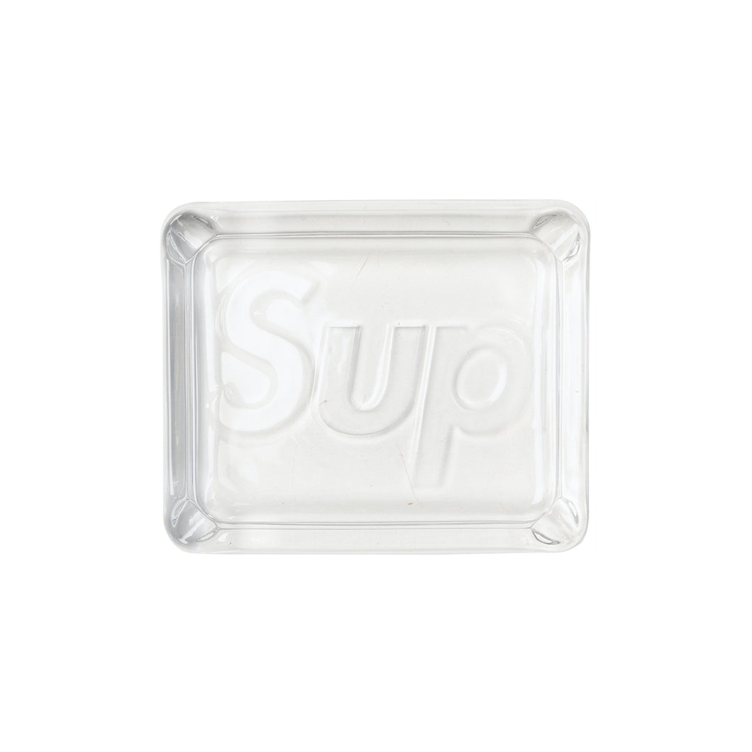 Supreme Debossed Glass Ashtray Clear