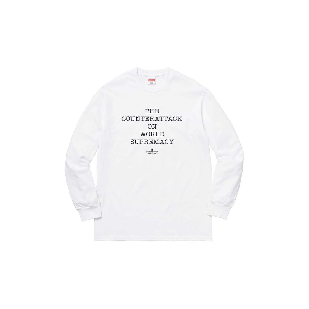 Undercover x Public Enemy Fear of a Black Planet LS Shirt-White, Clothing- dollarflexclub