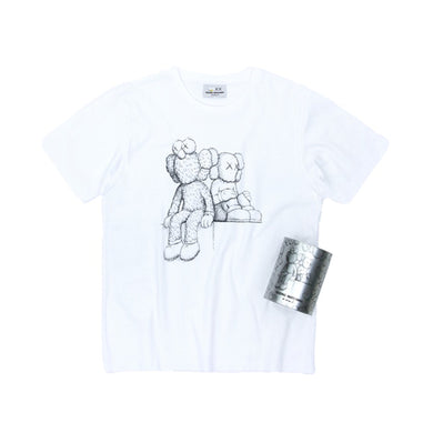KAWS Seeing/Watching Canned Tee -White, Clothing- dollarflexclub